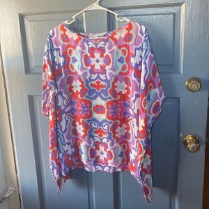 Patterned batwing Top
